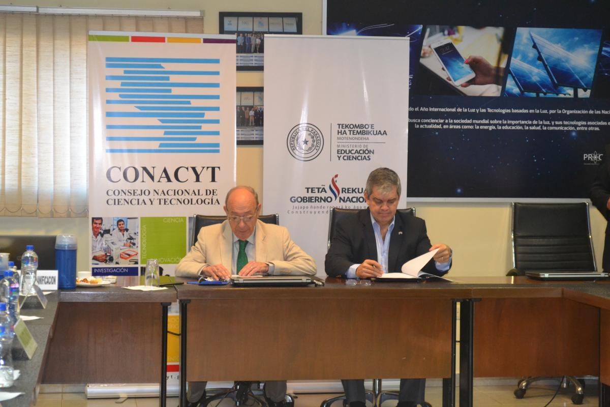CONACYT y el MEC firman acuerdo de cooperación