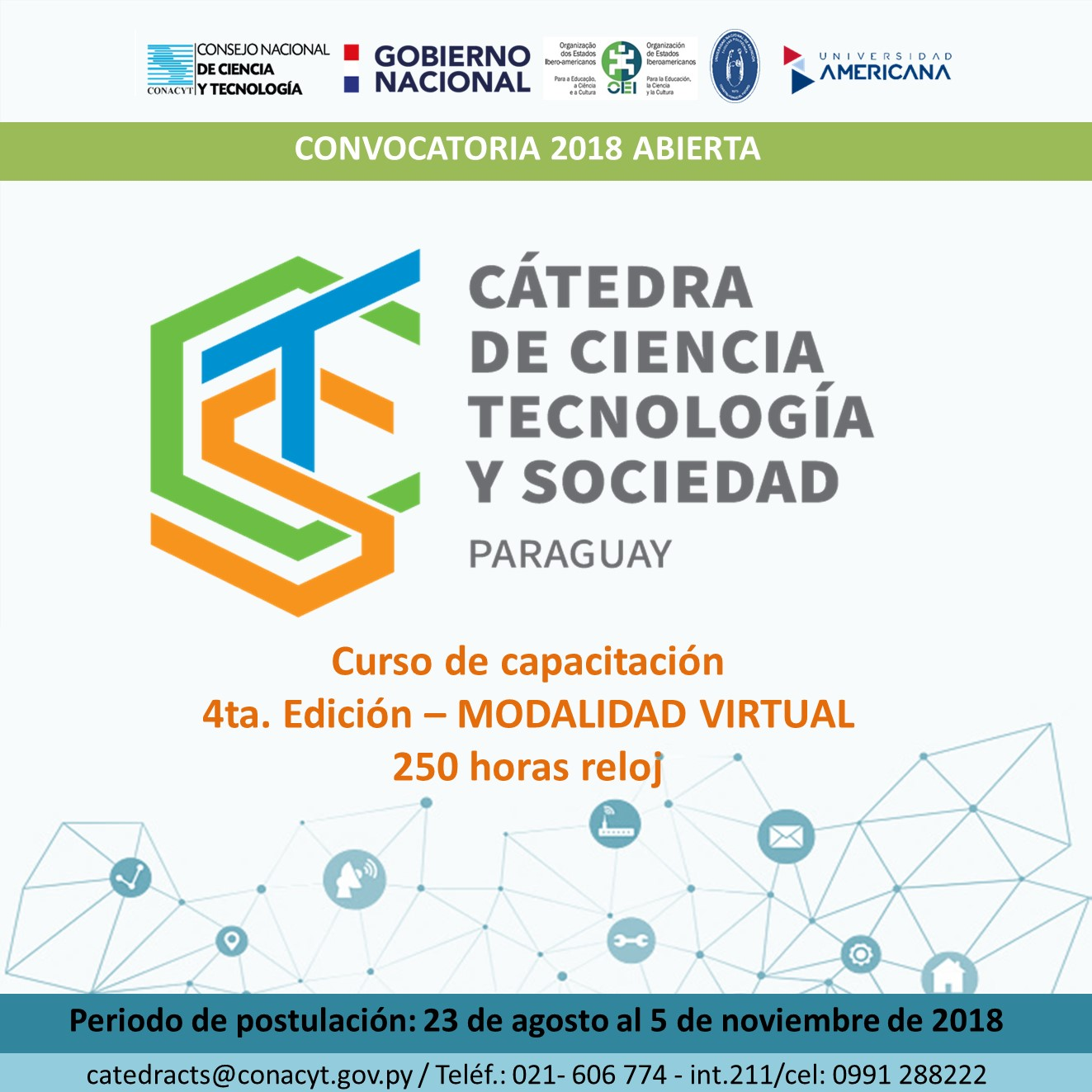 Convocatoria 2018   Cátedra CTS – Paraguay