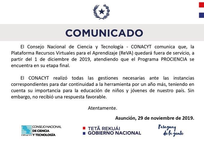 COMUNICADO CONACYT